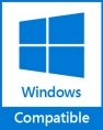Windows 7, 8, 10 compatible